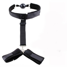 Handcuffs Mouth Plug Stuffed Head Sex Bondage Restraints For Couples Adult Game Erotic Products Rope For Women Men