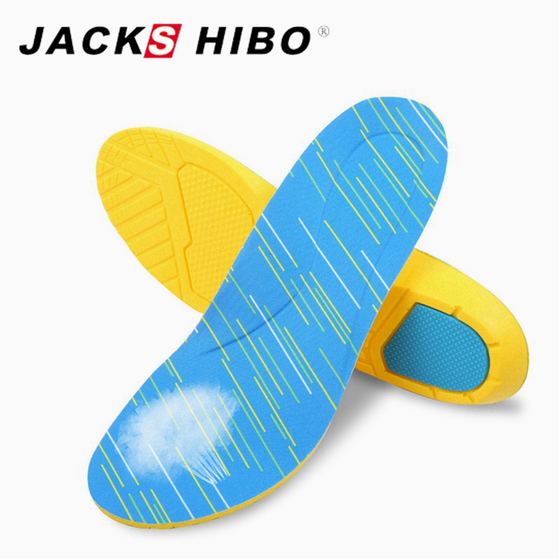 JACKSHIBO Shock Absorption Shoes Insoles Unisex PU Shoe Insoles Breathable shoes Pad for Men and Women Light Weight Footwear
