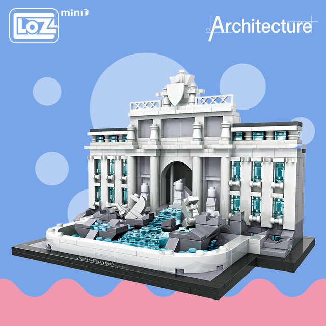 Loz Mini Blocks Trevi Fountain Educational Model Kit Toys For Children Building Architecture Kids Embly