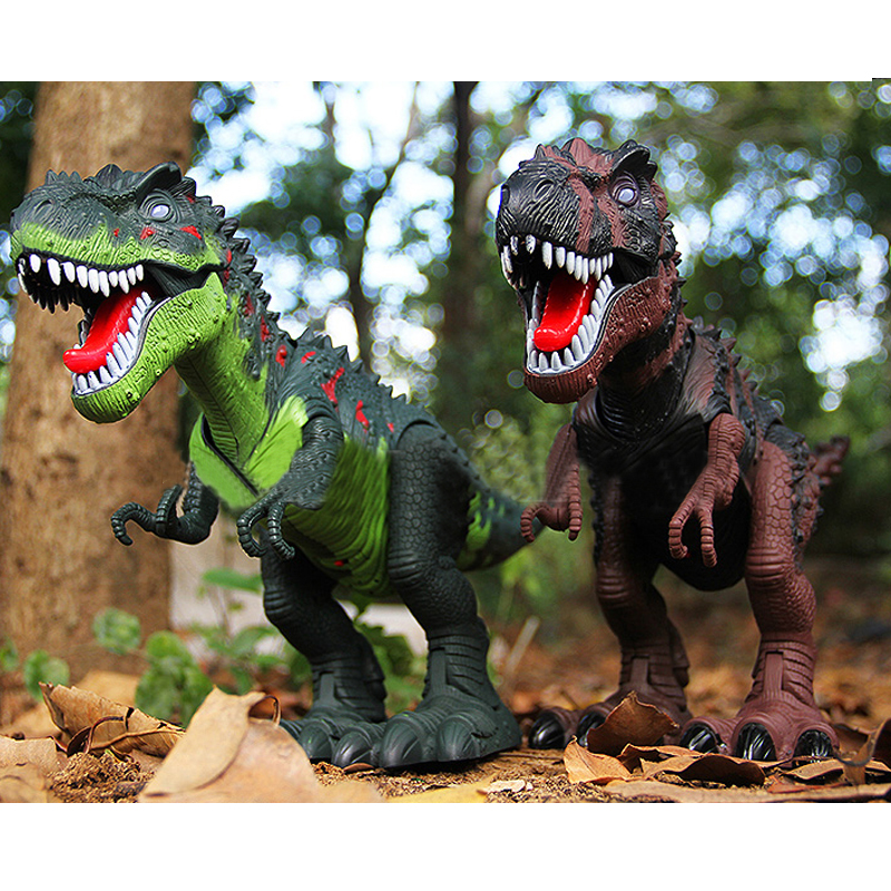 ФОТО Electric Tyrannosaur Animal Model Simulation Dinosaur Toy Gift for Kids
