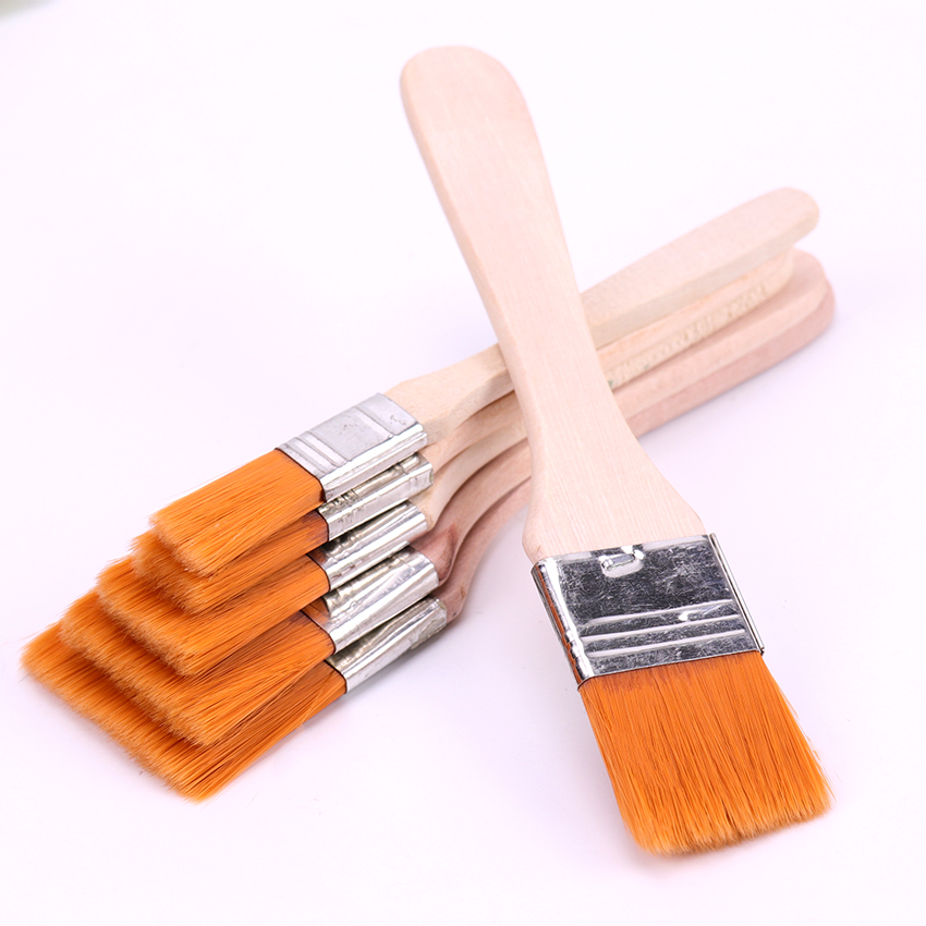6 Styles Oil Watercolor Painting Brushes Nylon Hair Painting Art Brush Easy To Clean Wooden Cleaning Brush Art Supplies