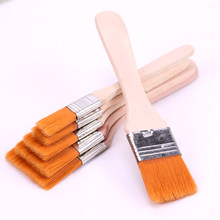 6 Styles Oil Watercolor Painting Brushes Nylon Hair Painting Art Brush Easy To Clean Wooden Cleaning Brush Art Supplies(China)
