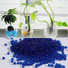 1000pcs Water Plant Flower Jelly Crystal Mud Water Pearls Gel Beads Ball Blue