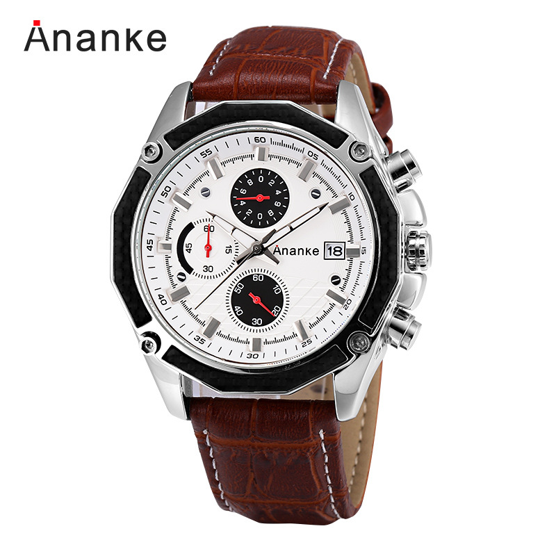 Ananke Mens Watches Top brand Luxury Casual Sports Japan Movt Chronograph Quartz Watch Men Clock Male Wristwatch quartz-watch didun watch mens top brand luxury quartz watch men military chronograph sports watch shockproof 30m waterproof wristwatch