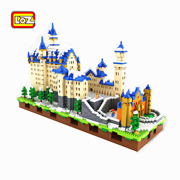 LOZ 9049 Diamond Blocks Neuschwanstein DIY Building Toys Swan Stone Castle World Building Educational Blocks for Children Gifts loz mini diamond building block world famous architecture nanoblock easter island moai portrait stone model educational toys