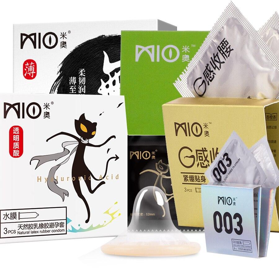 Kondome Beliebte Marke Mio 21 Teile/paket Vielzahl Mischen Arten Hyaluronsäure Ultradünne G-punkt Punkte Gewinde Kondome Zusätzliche Kühlung Geschmack Verschiedene Arten