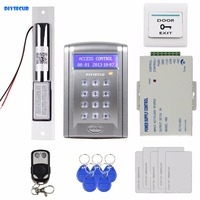 DIYSECUR Remote Controlled RFID Access Control Door Lock System Kit + Electric Bolt Lock Security System with Doorbell Button