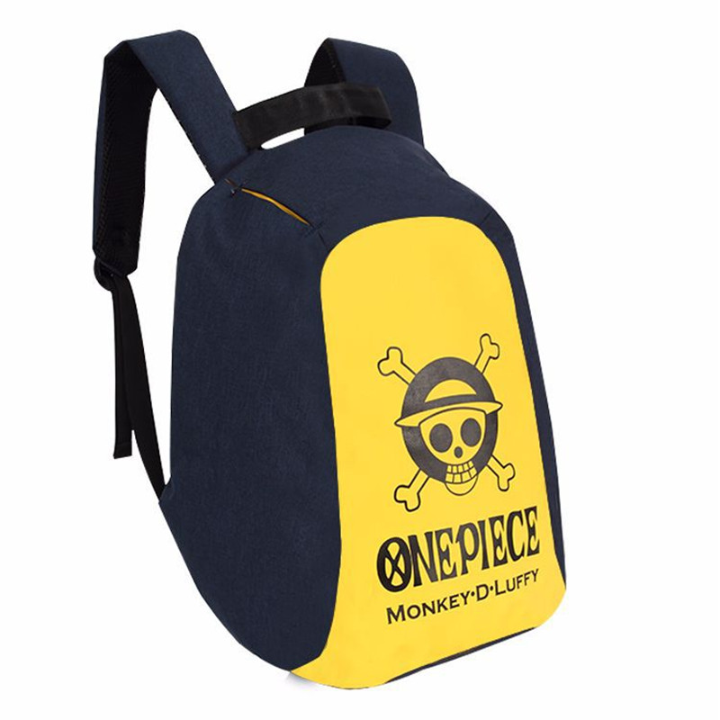 New Anime One Piece Skull Monkey D Luffy Backpack Bag Anti Theft School Rucksack Student Book Bag Cosplay For 14 Inch Laptop sosw fashion anime theme death note cosplay notebook new school large writing journal 20 5cm 14 5cm