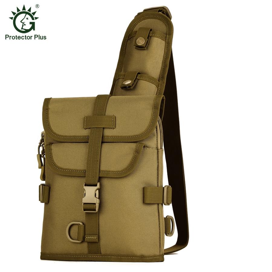 Protector Plus Vīriešu Messenger Bag Krūškurvja Pack Multifunkcionāla Taktiskā Plecu Soma Crossbody Kempinga aprīkojums Āra Ceļojumu Soma