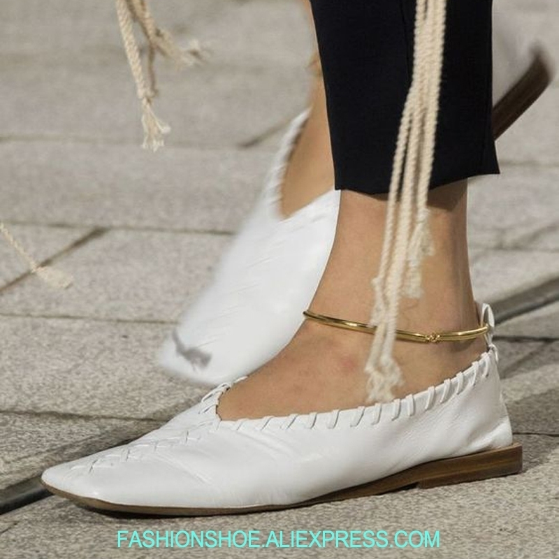 Soft Genuine Leather Women Flats Gold Metal Ring Squared Toe Ballet Flats Summer Loafers zapatos mujer Casual Drive Shoes Woman women pointed toe flats 2016 casual shoes female graffiti ballet flats mujer zapatos footwear for woman
