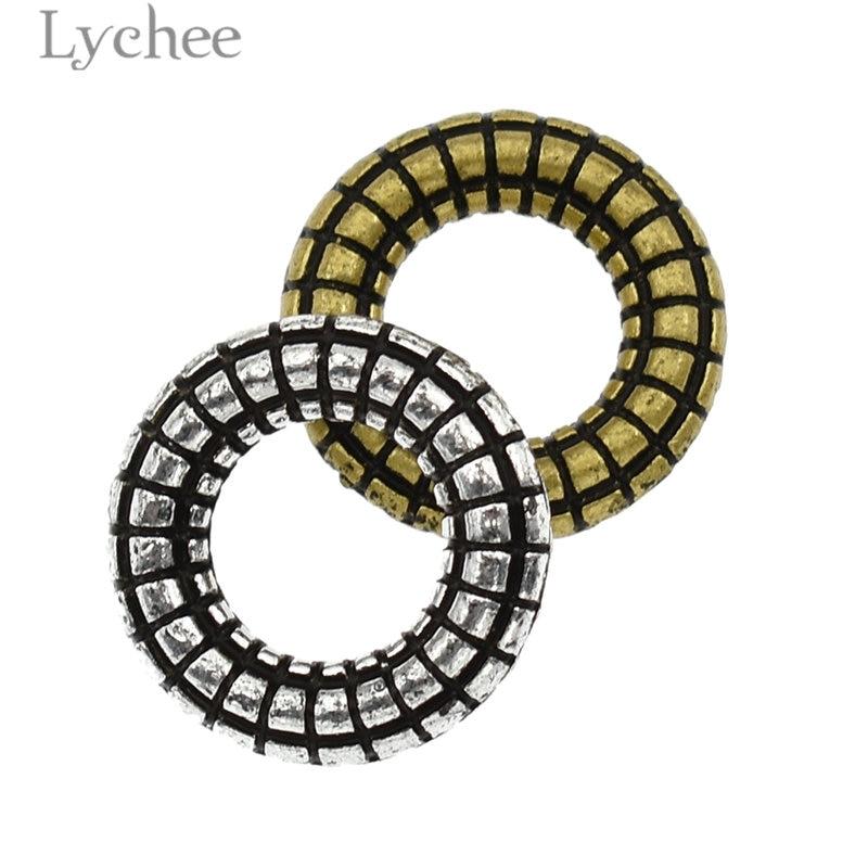 Lychee 10pcs/lot Alloy Resin Gear Shape Hair Braid Dread Dreadlock Beads Cuffs Clips Headwear Accessories Hair Jewelry