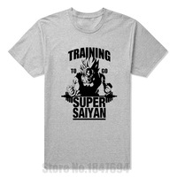 New Summer Style Training To Go Super Saiyan T Shirt Men Casual Short Sleeve Dragon Ball