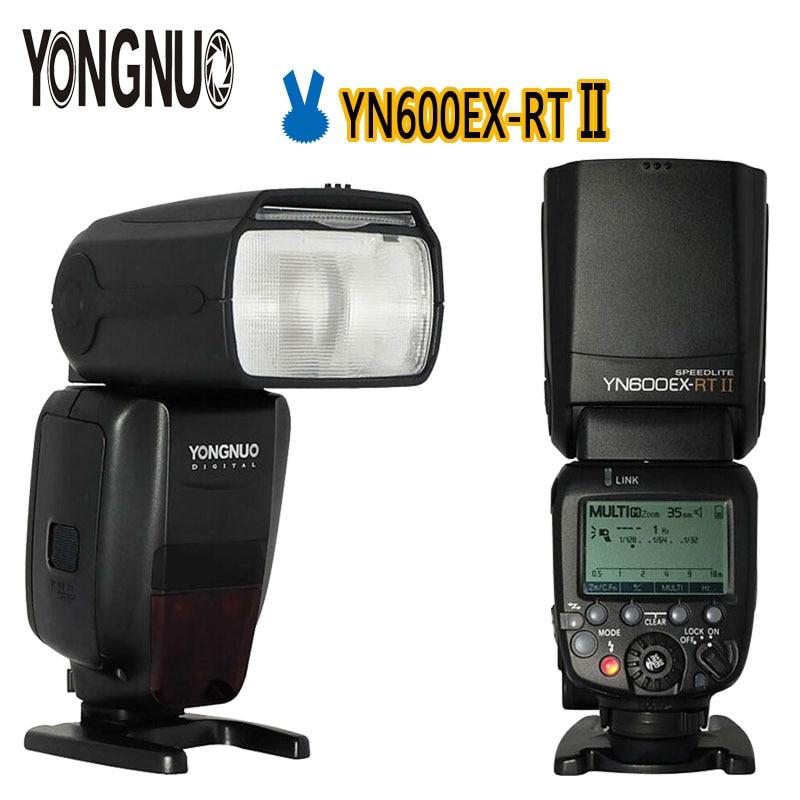 YONGNUO Optimal Kit 2pcs YN600EX-RT II 2.4G TTL Wireless HSS 1/8000s Master Flash Speedlite For Canon RT Radio Trigger 600EX RT yongnuo yn 560 iv yn560 wireless ttl hss master radio flash speedlite 2pcs rf 605c rf605 lcd wireless trigger for canon camera