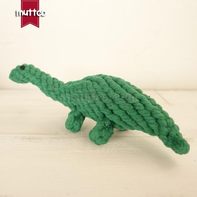 Groothandel hoge kwaliteit groene dinosaurus hond huisdier speelgoed katoenen touw speelgoed hond touw speelgoed DRT-014