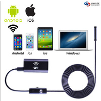 200W Pixels 8mm Diameter WiFi Connection Wireless Endoscope Industrial Endoscope Support Andrews Apple Phone Medical Gynecology