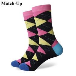 Спичка (Стиль № от 276 до 296) оптовая продажа без логотипа мужские чёсаный хлопок красочные носки us размер (7,5-12)