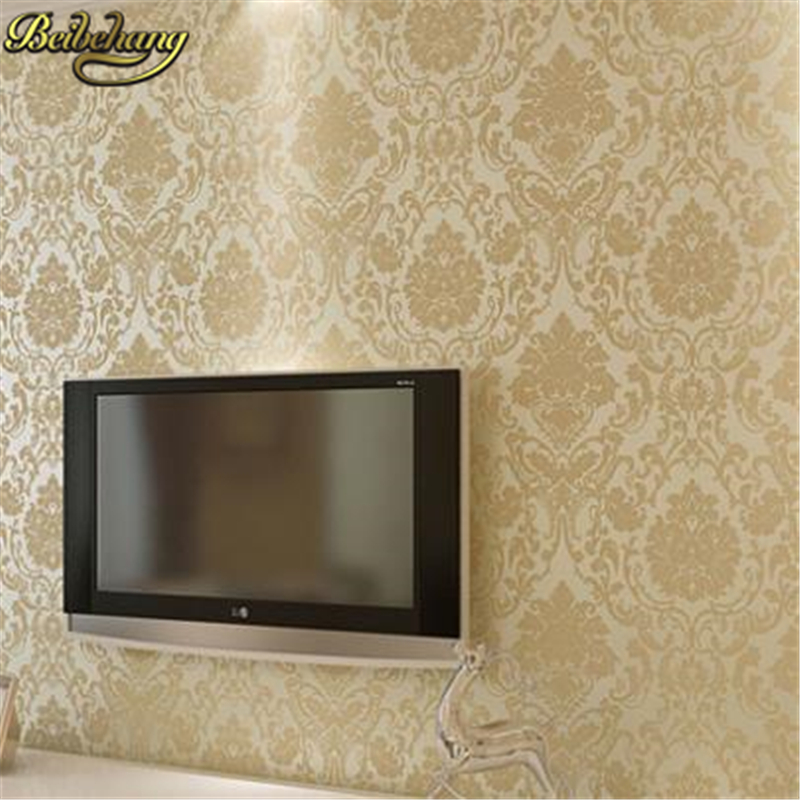 beibehang Modern muarl wallpaper for walls 3 d classic background damask wall paper glitter Flocking feature wallpaper bedroom wallpaper for walls 3 d modern trdimensional geometry 4d tv background wall paper roll silver gray wallpapers for living room