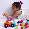 2016 DIY Kid Educational Assemble 3D Puzzle Toys Puff Ball Pressed Variety shape Creative Handmade Toy For Kids CX878791
