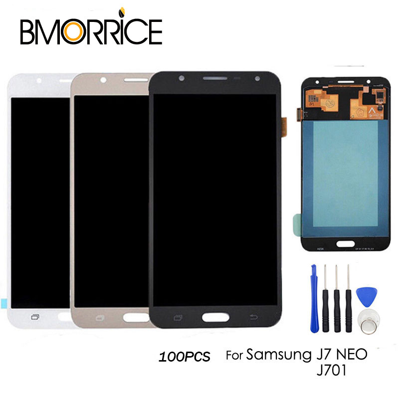 Lcd-Display 100PCS Digitizer Assembly Touch-Screen Samsung Galaxy for J7/Neo/J701 Adjustable