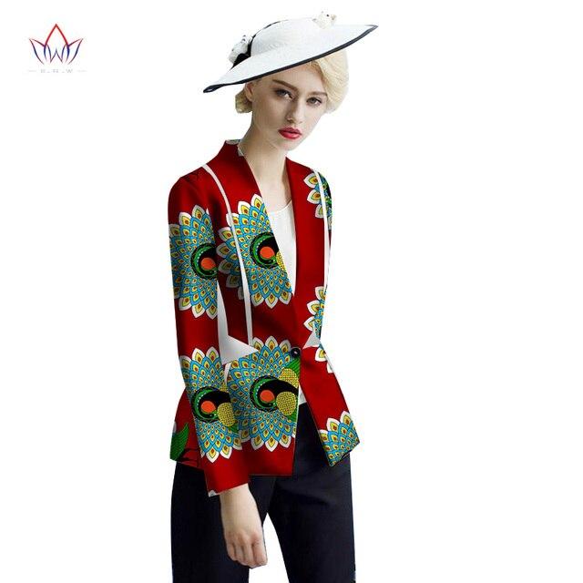 bazin riche African Womens woman Clothing regular Dashikis for vestidos turn-down Collar female hood coat cotton none 4xl WY2447