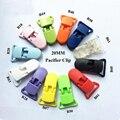100 шт. детские пластиковые соску клип 20 мм детские нагрудники клип соска держатель для детского соской смешивания цветов многофункциональный DIY клип