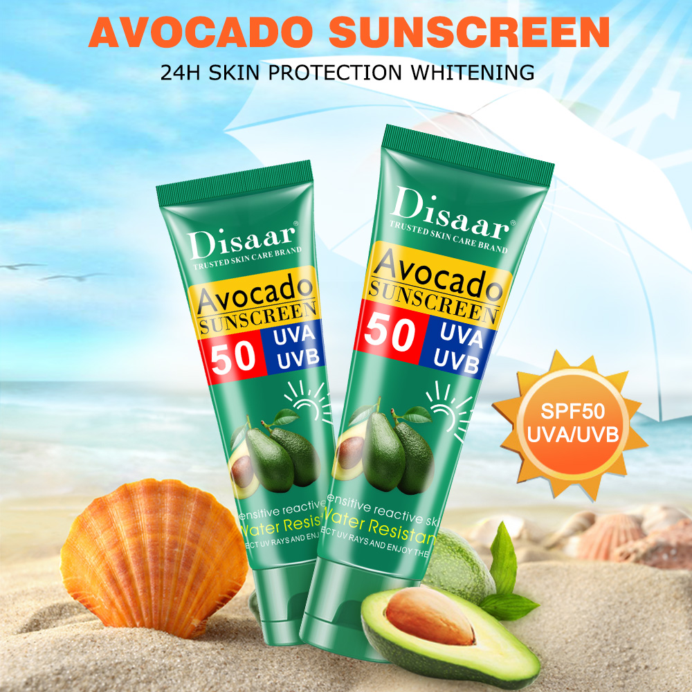 Avocado Essential Face Body Sunscreen Whitening Cream Sunblock Skin Protective Cream Oil-control Moisturizing SPF Body Skin Care