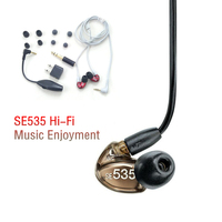 Ship in 48 Hours Brand SE535 Detachable Earphone Hi fi stereo Headset SE 535 In ear Earphones Separate Cable with Box VS SE215