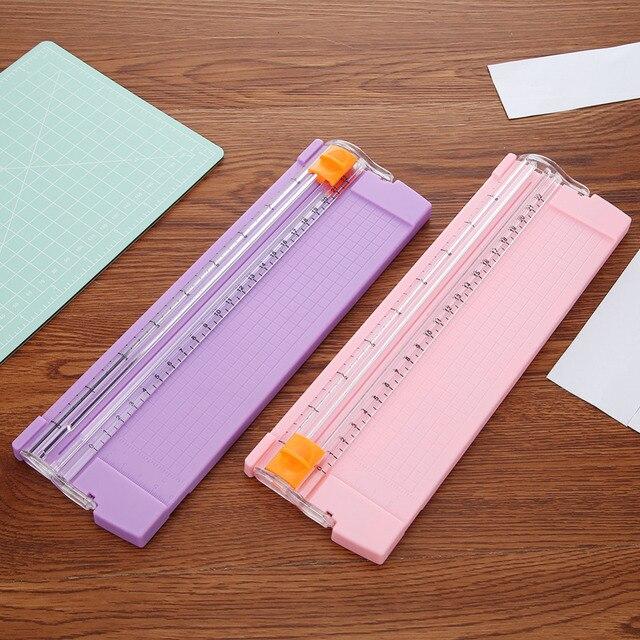Caliente A4/A5 de precisión de fotos de papel de Trimmers cortadores de guillotina con Pull-out regla para etiquetas de foto de corte de papel herramienta 3 colores