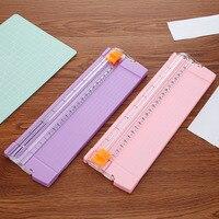 Hot A4/A5 Precisie Papier Foto Trimmers Cutters Guillotine met Pull-out Heerser voor Foto Etiketten Papier Snijden tool 3 Kleuren