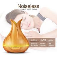 ISHOWTIENDA 1PC 400ml 7 Color Changing LED Lights Air Aroma Humidifier Ultrasonic Air Aromatherapy Essential Oil