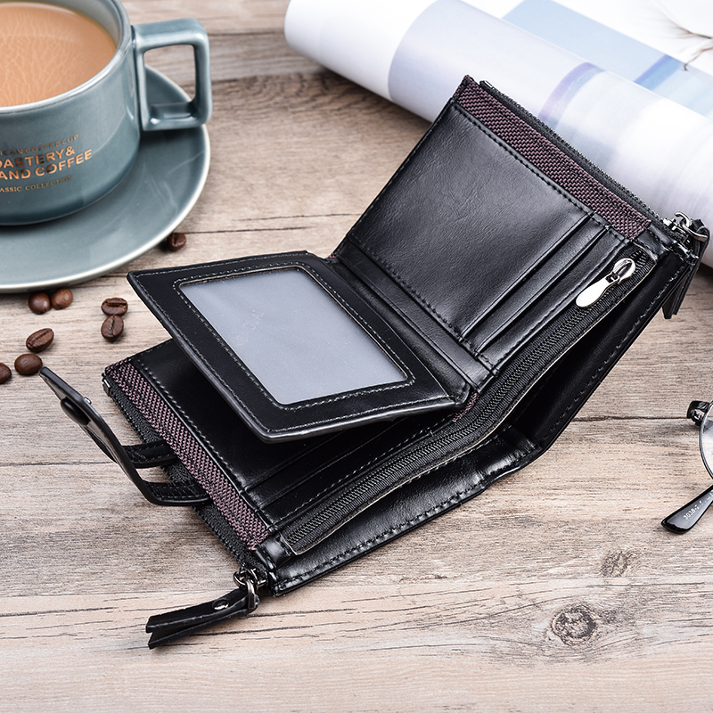 HTB1dMj3KhSYBuNjSspjq6x73VXar - JINBAOLA Men Wallet Brand Wallet Double Zipper&Hasp Design Small Wallet Male High Quality Short Card Holder Coin Purse Carteira