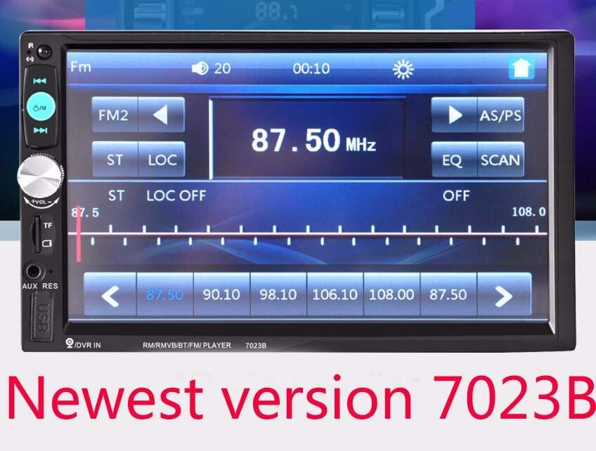 imágenes para 2017 Nueva 7023B Auto Car 2 Din Coche Reproductor de DVD 7 Pulgadas Scrren Táctil Radio Bluetooth Reproductor de Cámara de Visión Trasera entrada