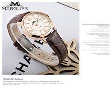 2018 Новый Margues бренд кварцевые часы для любителей простой цифрами случай любовь пары Мода часы Повседневная кожаный ремешок часы 032