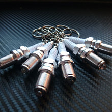 Dewtreetali Key Ring Case Women Men car Key Chain Novelty LED Keychain Spark Plug Mini Outside Keychain Holder Unisex