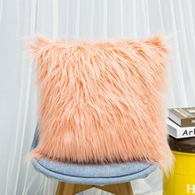 Newest Home Decorative Super Soft Plush Mongolian Faux Fur Throw Pillow Cover Winter Warm Pillowcases Z