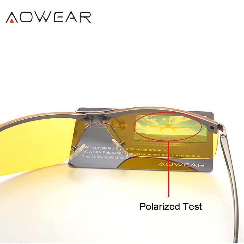 الرجال نظارات الرؤية الليلية نظارات HD البصر ليلة نظارات للقيادة الرجال الاستقطاب الأصفر نظارات لل سائق Oculos Gafas دي سول