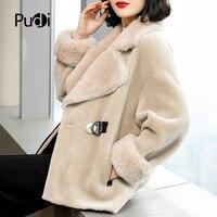 Pudi XL19002 зимнее женское Шерстяное Пальто из овечьей шерсти пальто из шерсти повседневное модное пальто