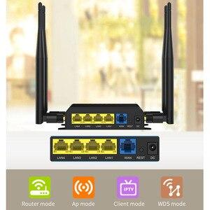 Image 4 - WiFi Router 4g 3g Modem Con SIM Slot Per Schede di Punto di Accesso Openwrt 128 MB Per Auto/Bus 12 V GSM 4G LTE USB Router Wireless lungo raggio WE826 T2