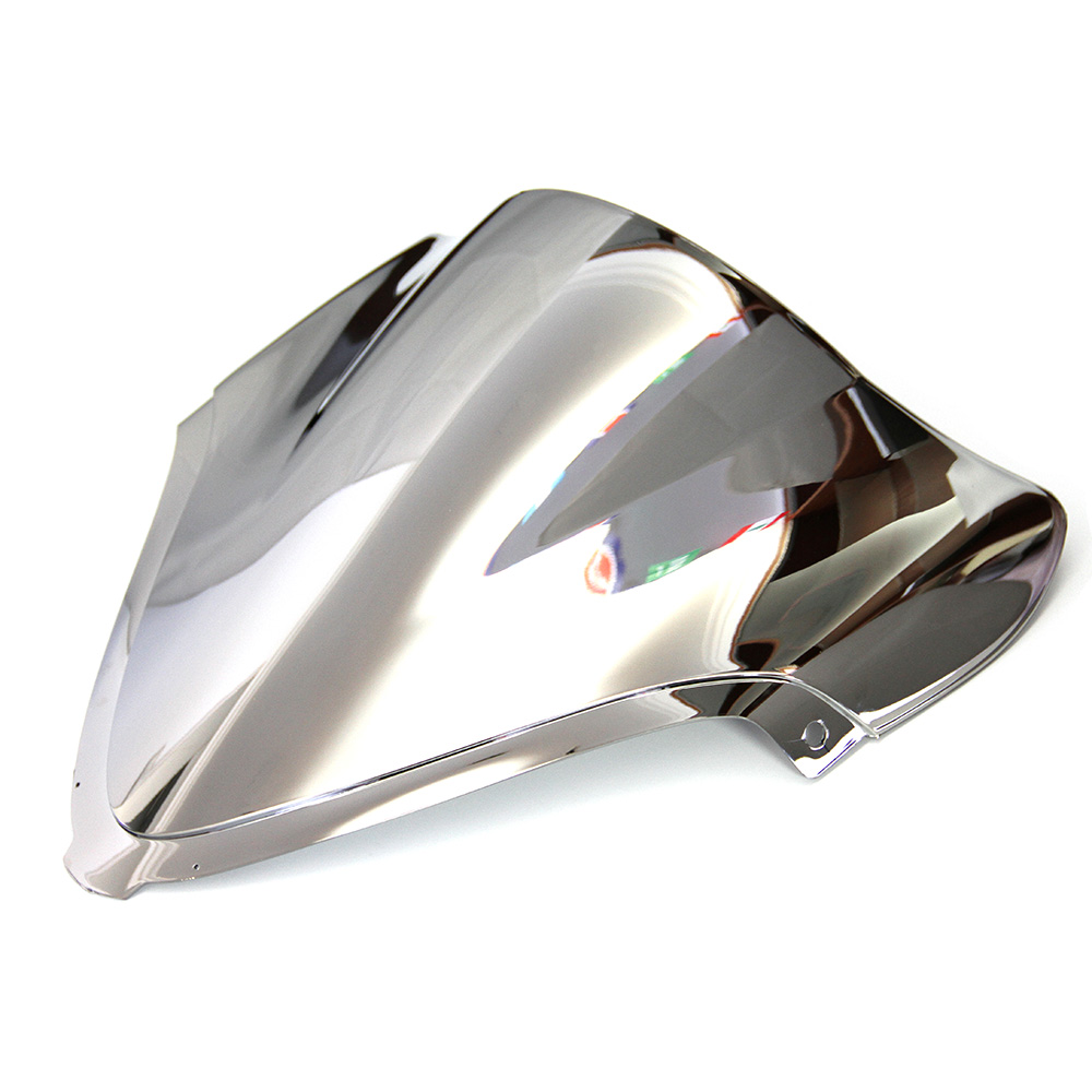 Motorcycle Silver Double bubble Windshield Windscreen For Suzuki GSXR GSX R1300 Hayabusa 2008 2016
