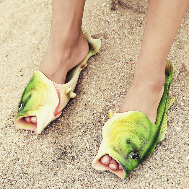 Summer shoes men slippers flip flops sandals for Bass fish slippers
