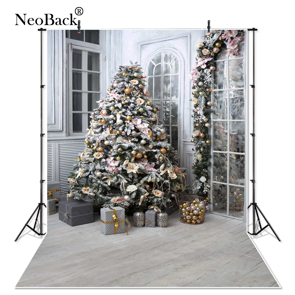 NeoBack New 5X7ft Baby Christmas Gifts backdrop Digital Printed Vinyl Indoor Photo Studio Holiday Photography Background B1133 free shipping 5x7ft christmas tree vinyl cloth photo background holiday children backdrop studio photography backdrop