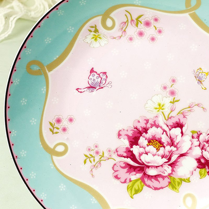 yefine bone china dinner plates on glazed decoration flowers high temperature health and safety ceramics dishes for cake in dishes plates from home - China Dinner Plates