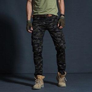 Image 3 - Vômito Estilo Militar dos homens Carga Calças Dos Homens Impermeável Respirável Calças Masculinas Corredores Exército Bolsos Das Calças Casuais Plus Size