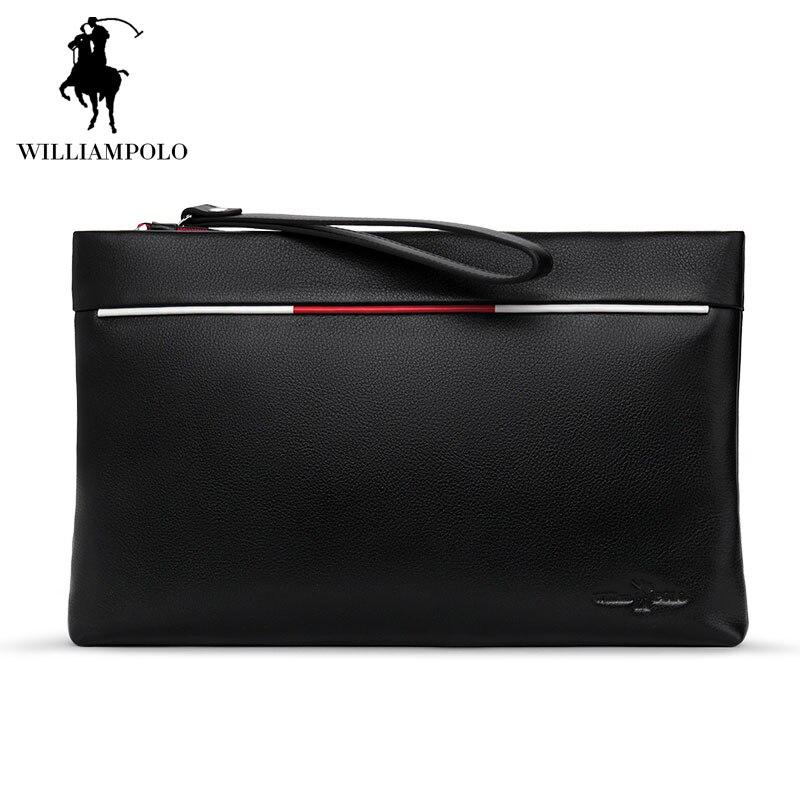 Italian Genuine Leather Designer Wallet for Men Multi-function Men Handbags Zipper Business passport Bag Men Travel iPad Bags italian visual phrase book