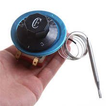 1PCS black Thermostat Dial Temperature Control Switch for Electric Oven Dial AC220V 16A 1pc 16a electric kettle thermostat switch 2 pin terminal kitchen appliance parts
