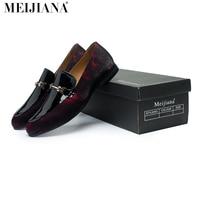 Handmade  leather Men Loafers,MeiJiaNa Brand 2016 Design Soft leather  Shoes Men