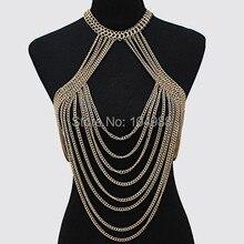 Новые поступления стиль B505 Модные женские золотой цвет тела цепи изделия восемь слоев цепи ювелирных изделий