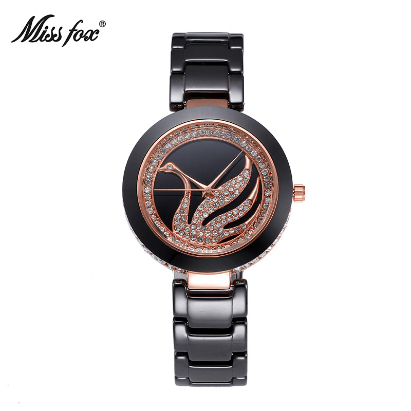 Hot Sell Miss Fox Brand Luxury Fashion Casual Women Quartz Watch Lady  Ceramic Watches Girl Dress Female Clock Relojes MujerHot Sell Miss Fox Brand Luxury Fashion Casual Women Quartz Watch Lady  Ceramic Watches Girl Dress Female Clock Relojes Mujer