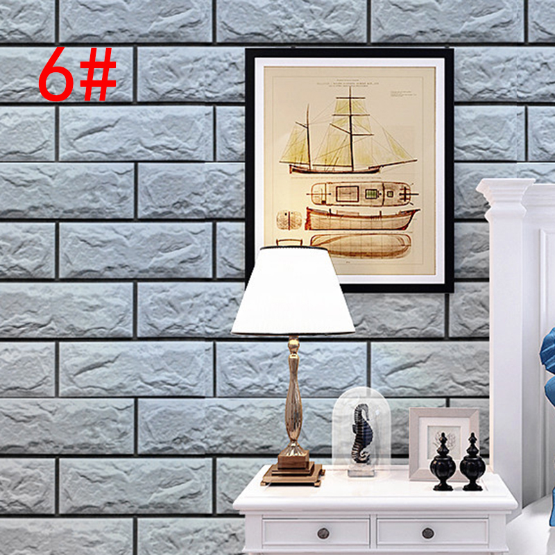 10m Wallpaper Brick Pattern Self-adhesive Waterproof Wall Sticker Paper store office home Decoration adesivo de parede