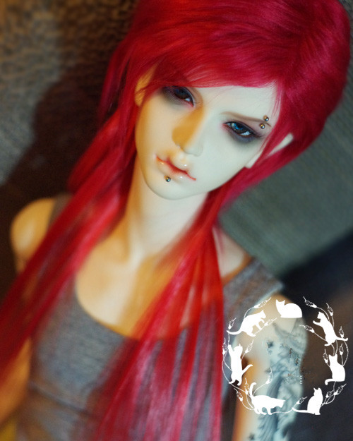 New 18-19cm 20-21cm 22-23cm Red Long Style Fur wig For BJD 1/3 1/4 DOD AS LUTS DZ Doll Wig HH120 free match stockings for bjd 1 6 1 4 1 3 sd16 dd sd luts dz as dod doll clothes accessories sk1